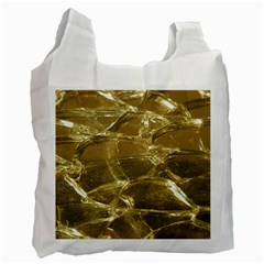 Gold Bar Golden Chic Festive Sparkling Gold  Recycle Bag (two Side)  by yoursparklingshop