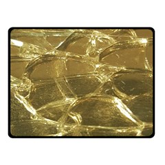 Gold Bar Golden Chic Festive Sparkling Gold  Double Sided Fleece Blanket (small)  by yoursparklingshop