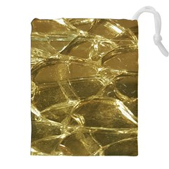 Gold Bar Golden Chic Festive Sparkling Gold  Drawstring Pouches (XXL) by yoursparklingshop