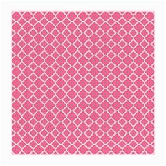 Soft Pink Quatrefoil Pattern Medium Glasses Cloth (2 Sides) by Zandiepants