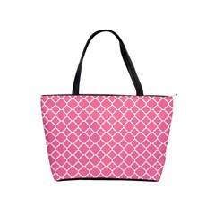 Soft Pink Quatrefoil Pattern Classic Shoulder Handbag by Zandiepants