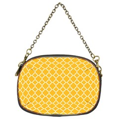 Sunny Yellow Quatrefoil Pattern Chain Purse (two Sides) by Zandiepants
