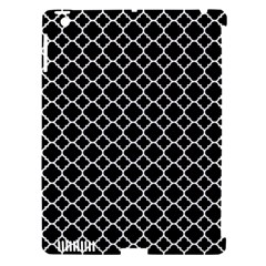Black & White Quatrefoil Pattern Apple Ipad 3/4 Hardshell Case (compatible With Smart Cover) by Zandiepants