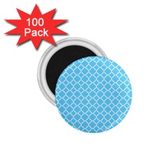 Bright Blue Quatrefoil Pattern 1 75  Magnet (100 Pack)  by Zandiepants