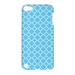 Bright blue quatrefoil pattern Apple iPod Touch 5 Hardshell Case by Zandiepants