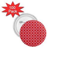 Poppy Red Quatrefoil Pattern 1 75  Button (100 Pack)  by Zandiepants