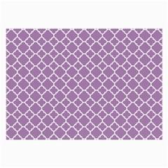 Lilac Purple Quatrefoil Pattern Large Glasses Cloth by Zandiepants