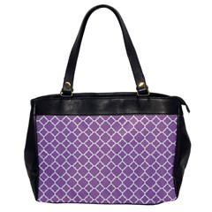 Lilac Purple Quatrefoil Pattern Oversize Office Handbag by Zandiepants