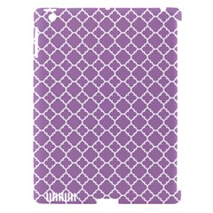 Lilac Purple Quatrefoil Pattern Apple Ipad 3/4 Hardshell Case (compatible With Smart Cover) by Zandiepants
