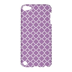 Lilac Purple Quatrefoil Pattern Apple Ipod Touch 5 Hardshell Case by Zandiepants
