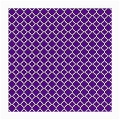 Royal Purple Quatrefoil Pattern Medium Glasses Cloth by Zandiepants