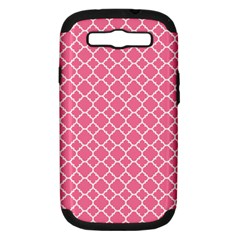Soft Pink Quatrefoil Pattern Samsung Galaxy S Iii Hardshell Case (pc+silicone) by Zandiepants