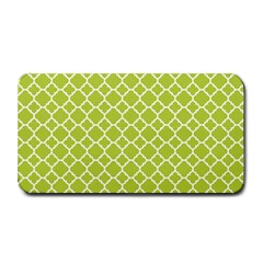 Spring Green Quatrefoil Pattern Medium Bar Mat by Zandiepants
