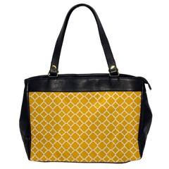 Sunny Yellow Quatrefoil Pattern Oversize Office Handbag by Zandiepants