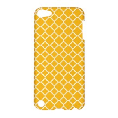 Sunny Yellow Quatrefoil Pattern Apple Ipod Touch 5 Hardshell Case by Zandiepants