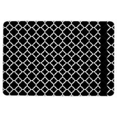 Black & White Quatrefoil Pattern Apple Ipad Air 2 Flip Case by Zandiepants