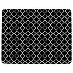 Black & White Quatrefoil Pattern Jigsaw Puzzle Photo Stand (rectangular) by Zandiepants