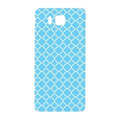 Bright Blue Quatrefoil Pattern Samsung Galaxy Alpha Hardshell Back Case by Zandiepants
