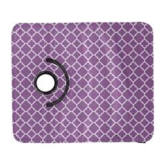 Lilac Purple Quatrefoil Pattern Samsung Galaxy S  Iii Flip 360 Case by Zandiepants