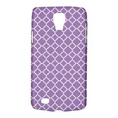 Lilac Purple Quatrefoil Pattern Samsung Galaxy S4 Active (i9295) Hardshell Case by Zandiepants