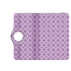 Lilac Purple Quatrefoil Pattern Kindle Fire Hdx 8 9  Flip 360 Case by Zandiepants