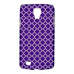 Royal Purple Quatrefoil Pattern Samsung Galaxy S4 Active (i9295) Hardshell Case by Zandiepants