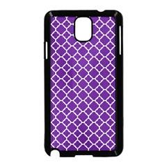 Royal Purple Quatrefoil Pattern Samsung Galaxy Note 3 Neo Hardshell Case (black) by Zandiepants