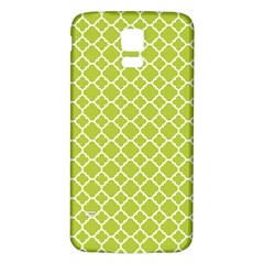 Spring green quatrefoil pattern Samsung Galaxy S5 Back Case (White) by Zandiepants