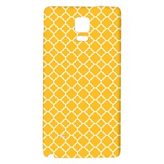 Sunny yellow quatrefoil pattern Samsung Note 4 Hardshell Back Case by Zandiepants