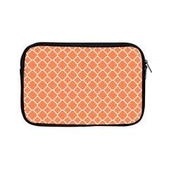 Tangerine Orange Quatrefoil Pattern Apple Ipad Mini Zipper Case by Zandiepants
