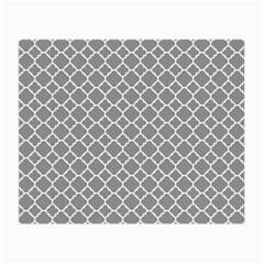 Grey Quatrefoil Pattern Small Glasses Cloth by Zandiepants