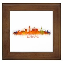 Barcelona City Art Framed Tiles by hqphoto