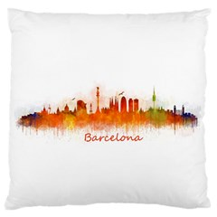 Barcelona City Art Standard Flano Cushion Case (one Side) by hqphoto