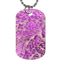 Festive Chic Pink Glitter Stone Dog Tag (one Side) by yoursparklingshop