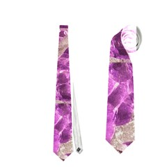 Festive Chic Pink Glitter Stone Neckties (two Side)  by yoursparklingshop