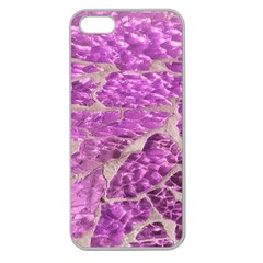Festive Chic Pink Glitter Stone Apple Seamless Iphone 5 Case (clear) by yoursparklingshop