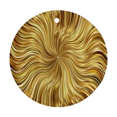 Chic Festive Elegant Gold Stripes Ornament (round)  by yoursparklingshop