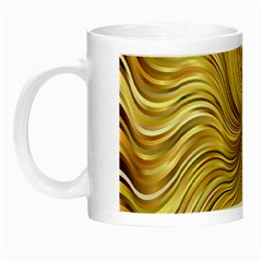 Chic Festive Elegant Gold Stripes Night Luminous Mugs by yoursparklingshop