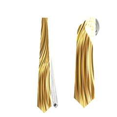 Chic Festive Elegant Gold Stripes Neckties (two Side)  by yoursparklingshop