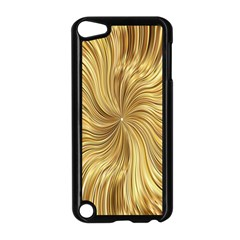 Chic Festive Elegant Gold Stripes Apple Ipod Touch 5 Case (black) by yoursparklingshop