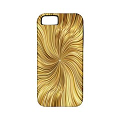 Chic Festive Elegant Gold Stripes Apple Iphone 5 Classic Hardshell Case (pc+silicone) by yoursparklingshop