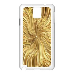 Chic Festive Elegant Gold Stripes Samsung Galaxy Note 3 N9005 Case (white) by yoursparklingshop