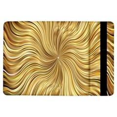 Chic Festive Elegant Gold Stripes Ipad Air Flip by yoursparklingshop