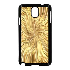 Chic Festive Elegant Gold Stripes Samsung Galaxy Note 3 Neo Hardshell Case (black) by yoursparklingshop