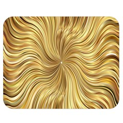 Chic Festive Elegant Gold Stripes Double Sided Flano Blanket (medium)  by yoursparklingshop