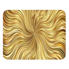 Chic Festive Elegant Gold Stripes Double Sided Flano Blanket (large)  by yoursparklingshop
