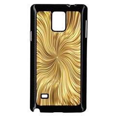 Chic Festive Elegant Gold Stripes Samsung Galaxy Note 4 Case (black) by yoursparklingshop