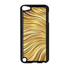 Chic Festive Gold Brown Glitter Stripes Apple Ipod Touch 5 Case (black) by yoursparklingshop