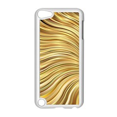 Chic Festive Gold Brown Glitter Stripes Apple Ipod Touch 5 Case (white) by yoursparklingshop