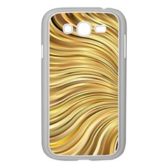 Chic Festive Gold Brown Glitter Stripes Samsung Galaxy Grand Duos I9082 Case (white) by yoursparklingshop